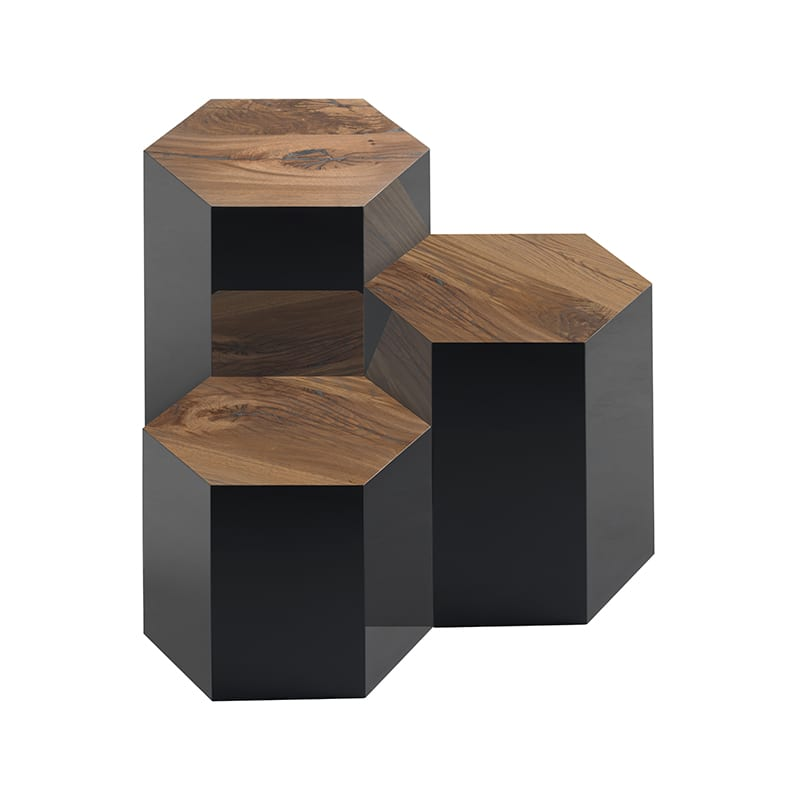 Group of 3 Juxtapo Side Tables by Facet Furniture
