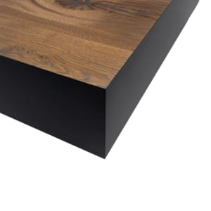 Juxtapo Coffee Table corner details by Facet Furniture
