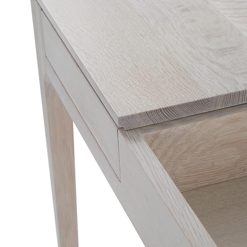 Drawer details of linden vanity by facet furniture