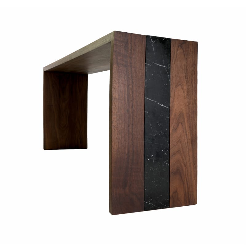 Flow Console Table With Walnut and Marble