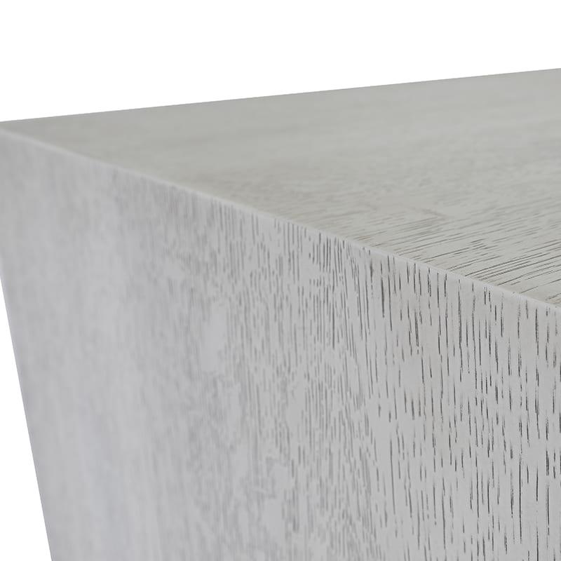 white oak details on amalgam credenza by facet furniture
