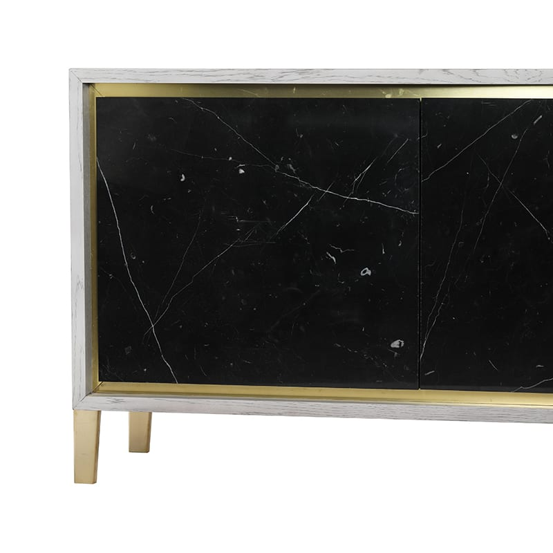 Brass details on Amalgam Credenza By Facet Furniture