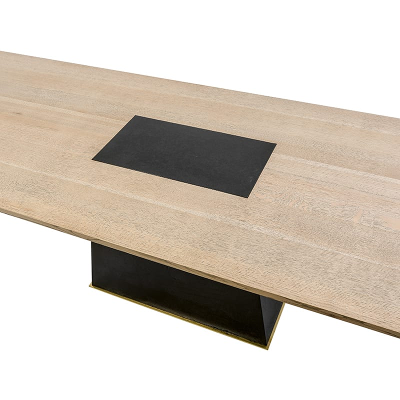 top detailed view of leverage dining table by facet furniture
